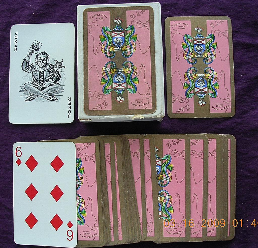 Vintage ROYAL MAIL LINE Playing Cards Circa 1950's
