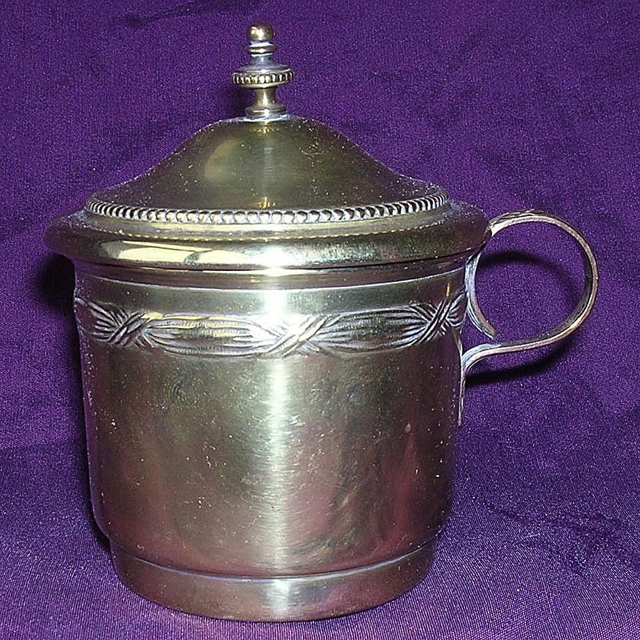 Victorian Brass on Tin Coffee Strainer