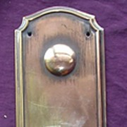 Rare Georgian Period Bronze Door Push Plate