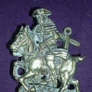 DICK TURPIN Brass Door Knocker Circa 1909