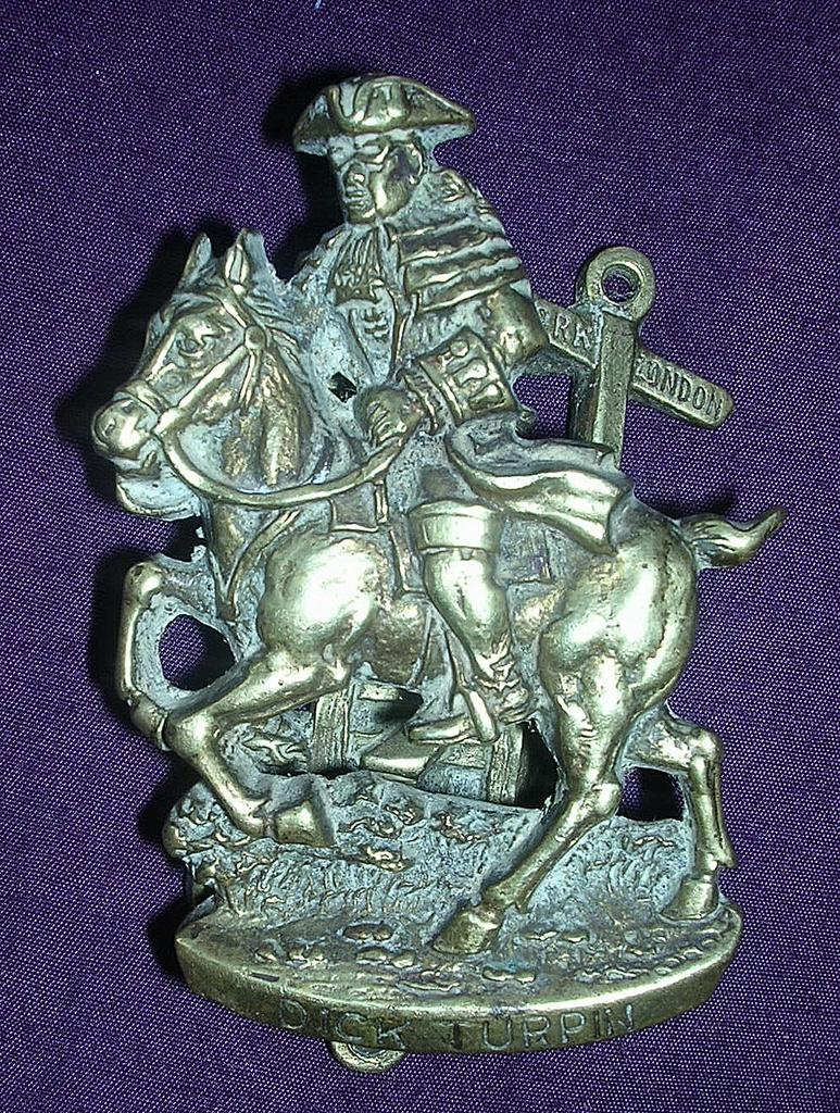 DICK TURPIN Brass Door Knocker Circa 1909