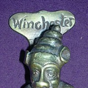 Vintage WINCHESTER IMP Brass Door Knocker Circa 1910