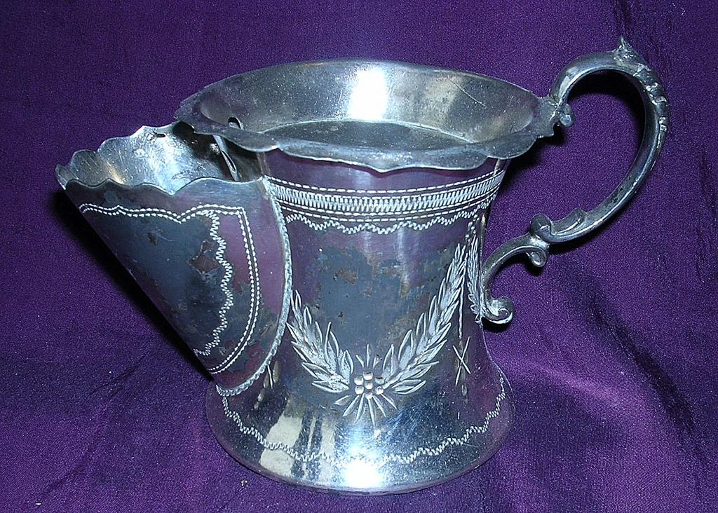 Victorian Britannia Metal Shaving Mug