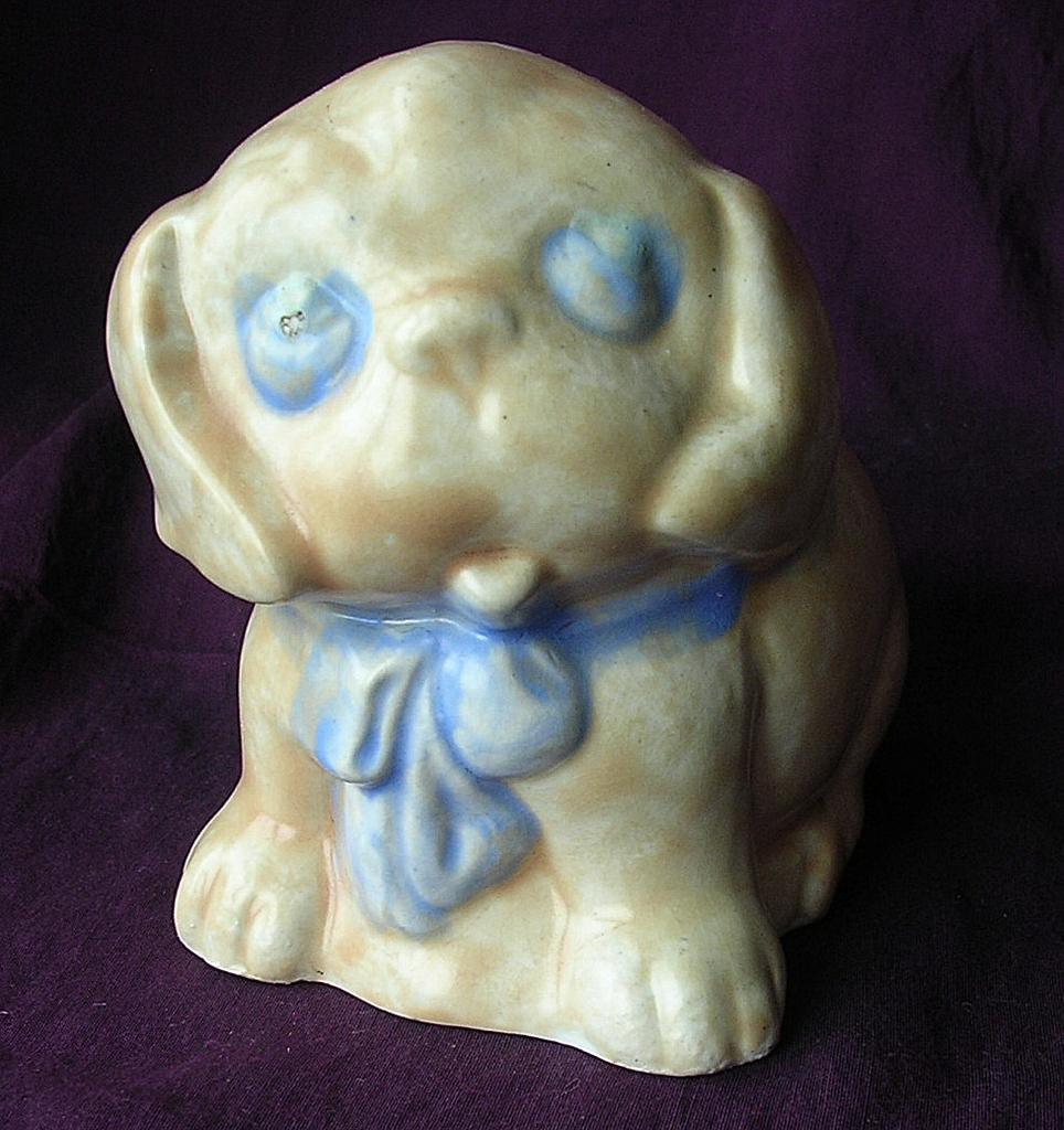 Vintage Circa 1935-40  Art Deco Perky Pup Style Ornament