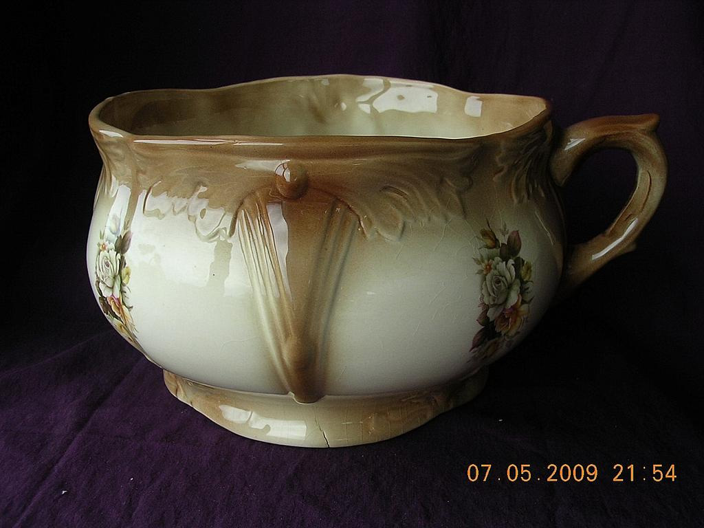 "Victorian Staffordshire Porcelain Chamber Pot Or ""Potty"""