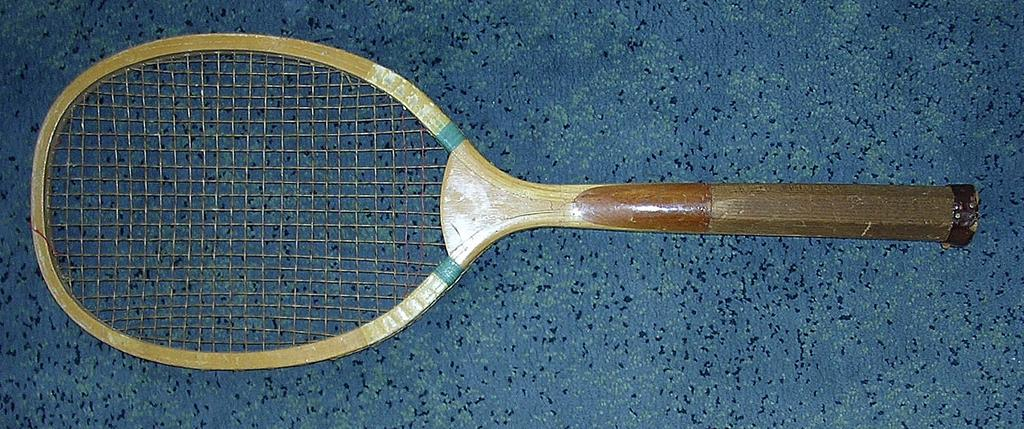 Victorian Convex Throat Tennis Racquet Circa 1900
