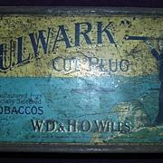 RARE Victorian Tobacco Tin BULWARK Cut Plug Circa 1884