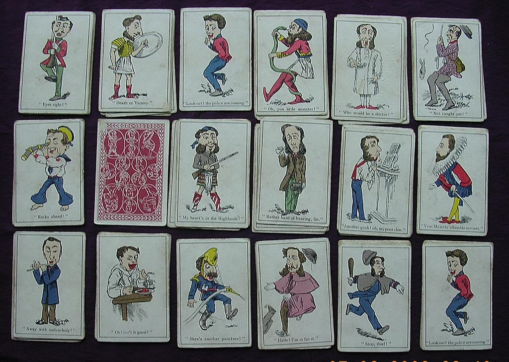 "Victorian Children's ""SNAP"" Playing Cards"