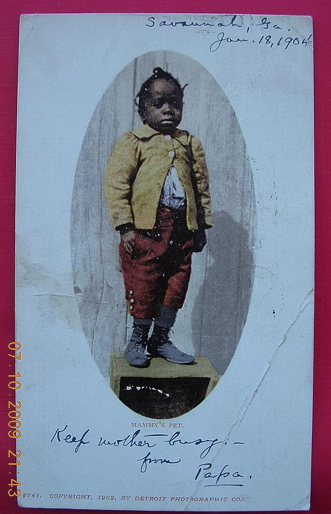 "1904 Negro Postcard ""Mammy's Pet"""