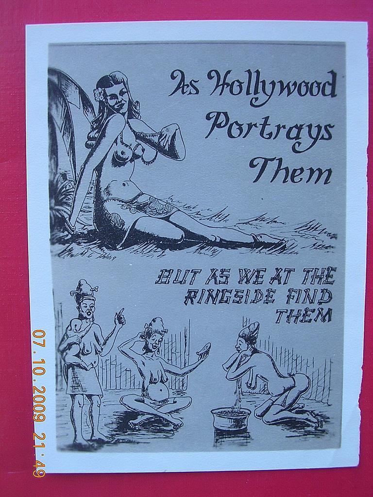 WW2 Vintage Small GI Comedy Card Pacific Island Native