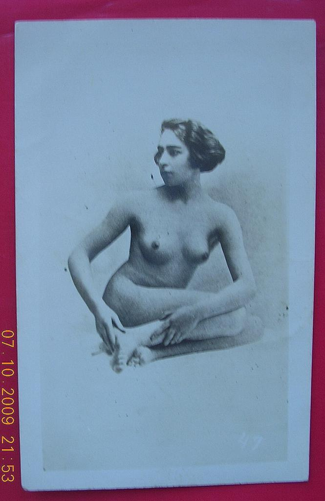 Vintage French Nude Study Postcard