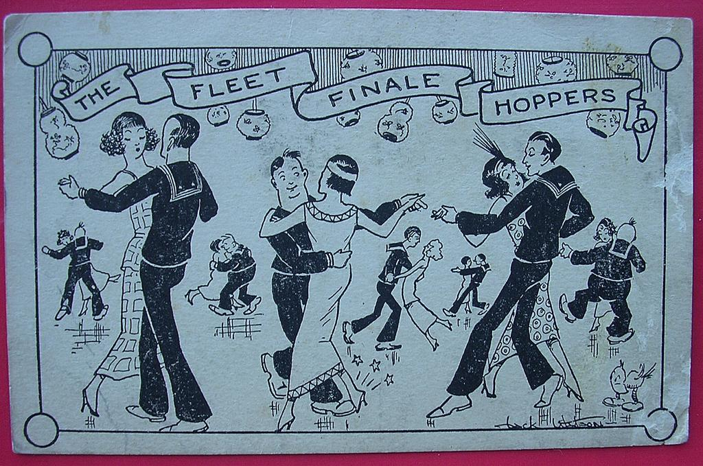 "Vintage US NAVY ""Fleet Finale Hoppers"" Postcard"