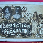 1902 Coronation Program for Edward V11