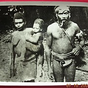 Vintage Solomon Islands Family WW2 GI Photograph