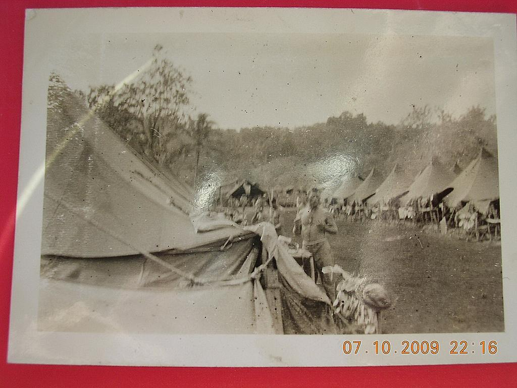 Vintage WW2 US ARMY Base Camp Solomon Islands Photograph