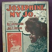 "Vintage Negro Sheet Music ""Josephine My Jo"" 1901"