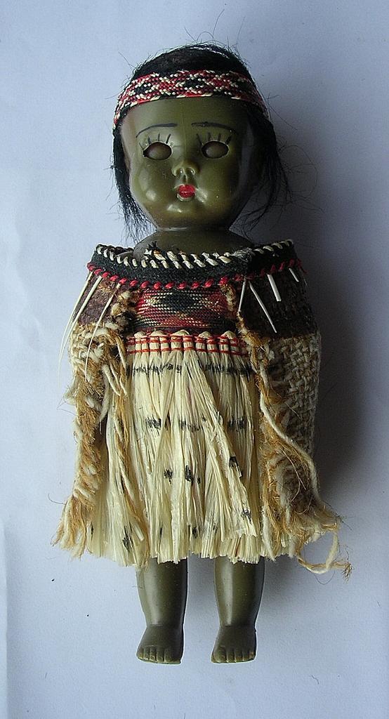 Vintage Souvenir Maori Girl Doll