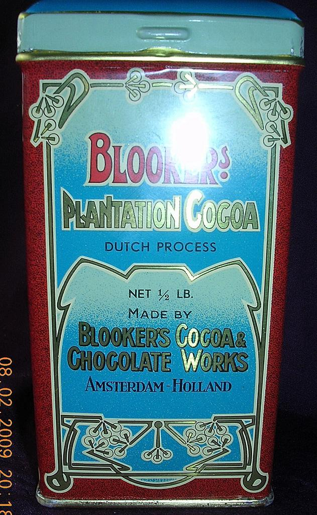 Vintage BLOOKER BRAND Dutch Cocoa Tin