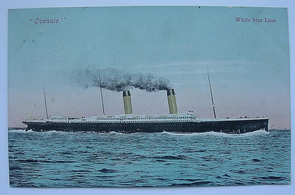 Postcard White Star Line 'OCEANIC' Postal Dated 1905