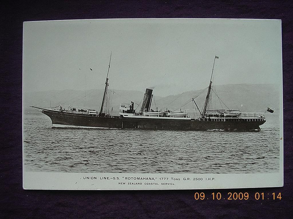Union Line 'S.S. Rotomahana' Vintage Souvenir Postcard