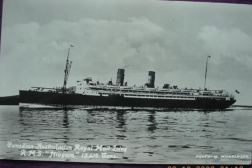 Canadian Australian Royal Mail Line 'R.M.S. Niagara' Souvenir Postcard