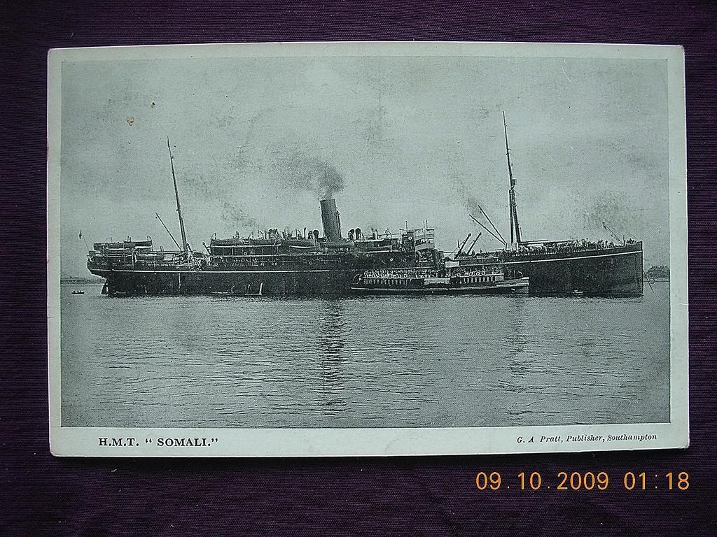 P & O Lines 'H.M.T Somali' Vintage Postcard