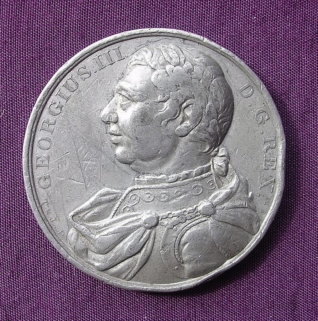 1820 George 111 Large Commemorative Medallion