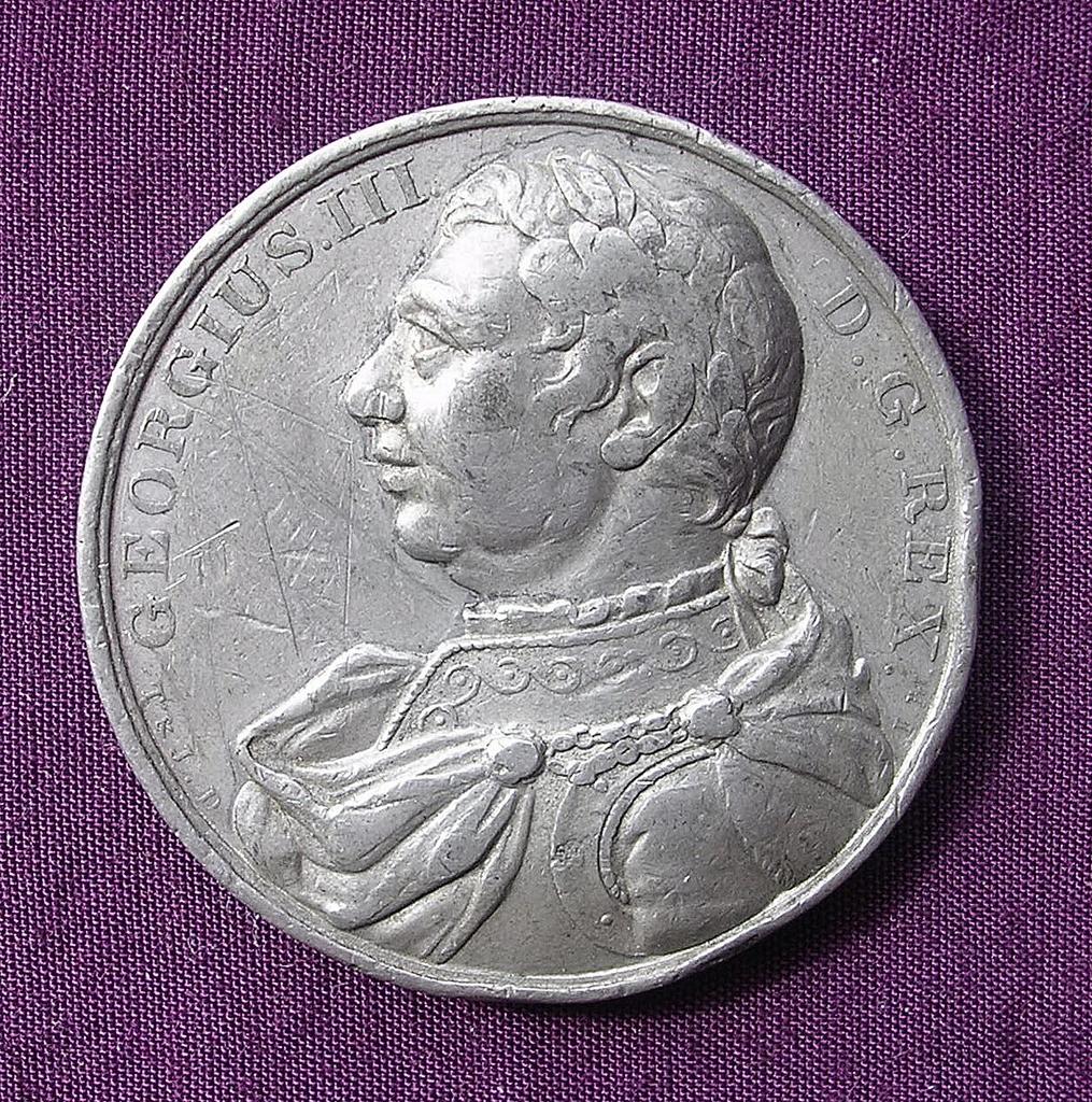 1820 George 111 Large Commemorative Medallion