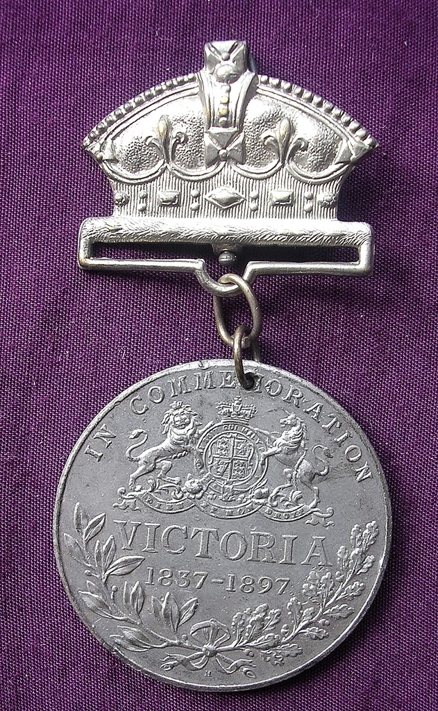 1897 Queen Victoria Commemorative Medallion 50 Years Reign