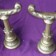 A Pair of Solid Brass Victorian ANDIRONS