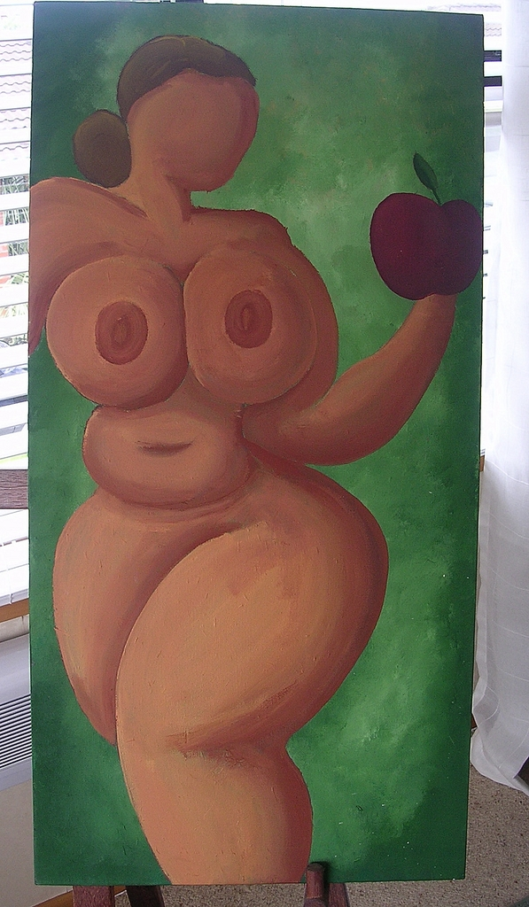 Pop Art Original 'The Temptation Of Eve' By New Zealand Artist  'RifRaf'