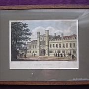 Georgian Engraving 'Christ College' Published 1809