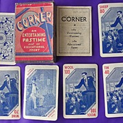 Vintage Victorian Playing Cards Game 'Corner'