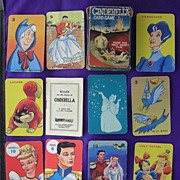 Vintage 'Walt Disney' Children's Playing Cards 'Cinderella'