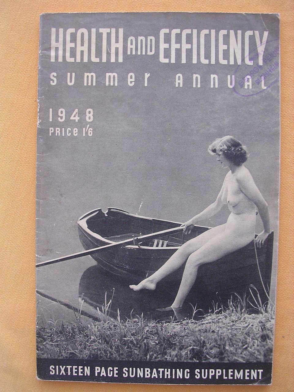 "Vintage 1948 "" Health & Efficiency' English Nudist Magazine"