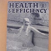 Vintage 1941 'Health & Efficiency' English Nudist Magazine