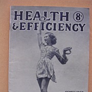 Vintage 1946 'Health & Efficiency' English Nudist Magazine