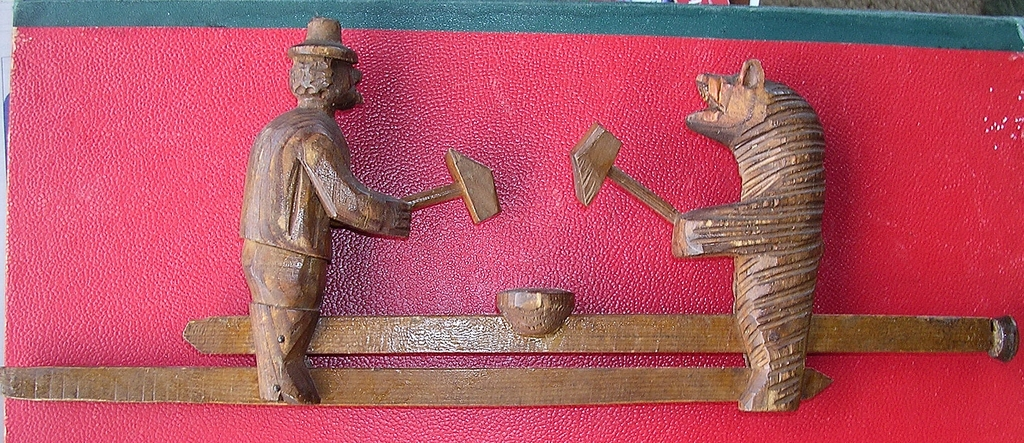BLACK FOREST- German Carved Vintage Wooden Toy