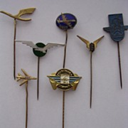 Vintage European Airlines Lapel Badges