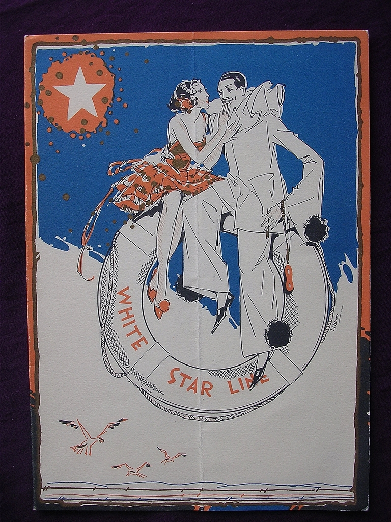 R.M.S. Homeric - White Star Line - Menu 1931