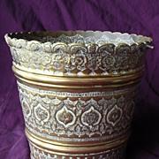 British Raj Era Beautifully Decorative Brass Jardiniere