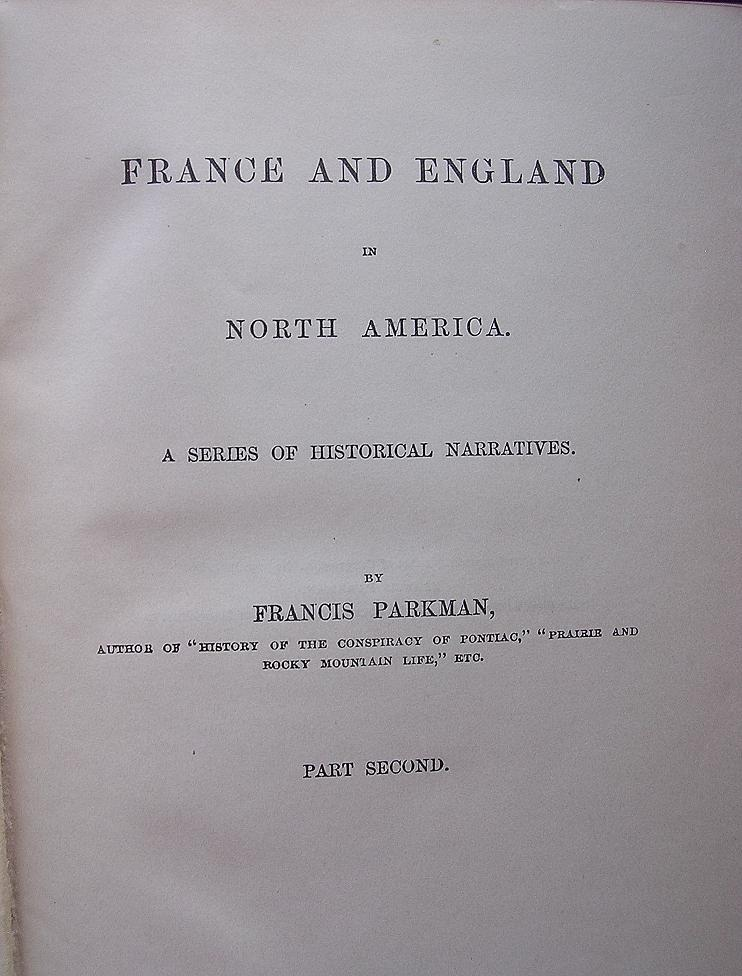 1888 25th Edition 'The JESUITS in North America' By Francis Parkman