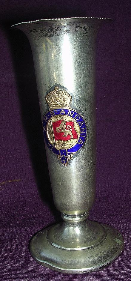 Cunard Liner R.M.S. ANDANIA Souvenir Bud Vase
