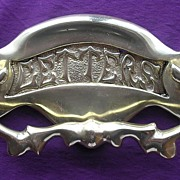 Vintage Cast Brass Door Knocker & Letter Slot