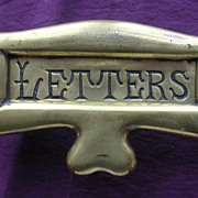 Brass Victorian  ART NOUVEAU Letter Slot For Entrance Door