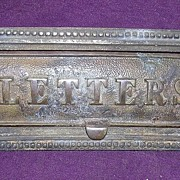 Victorian Bronze Door Letter Slot