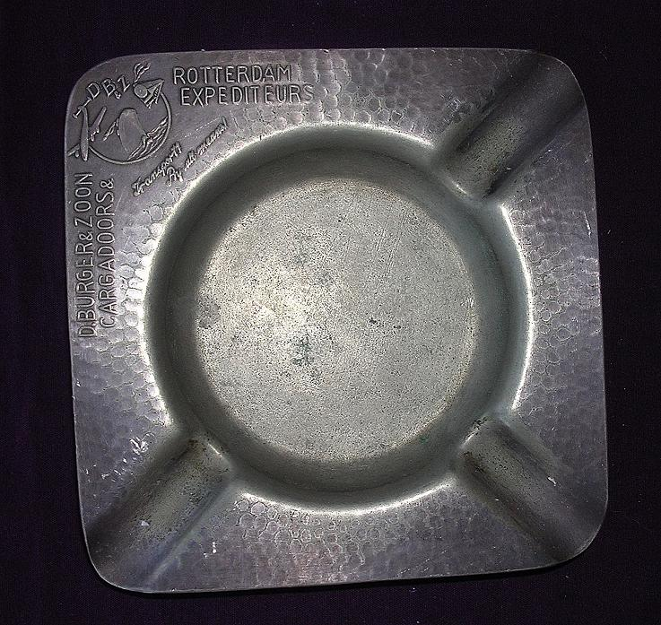 'D BURGER & ZOON Cargadoors'  1940's Dutch Advertising Ashtray