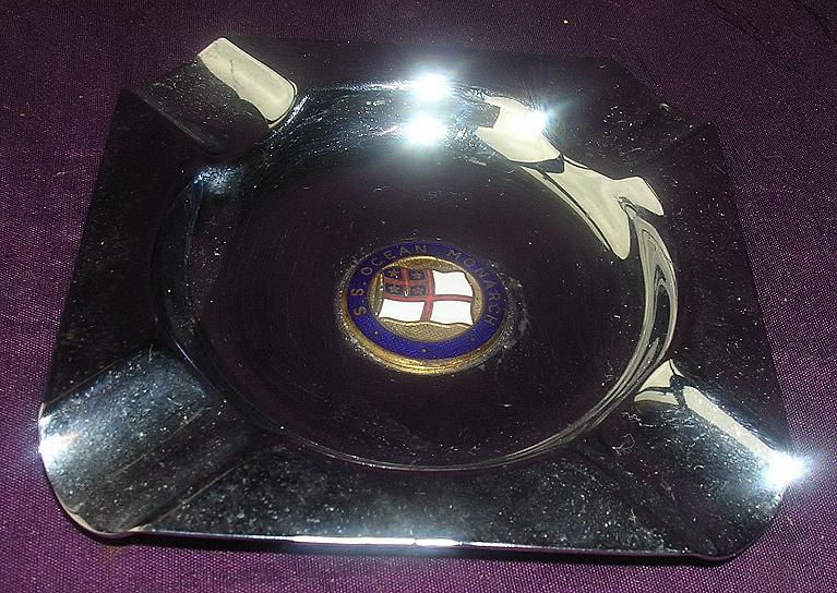 S.S. OCEAN MONARCH - Shaw Savill & Albion - Souvenir Ashtray