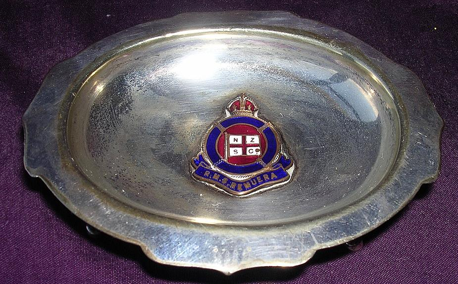 R.M.S. Remuera Souvenir Footed Ring or Bon Bon Dish - NZSCo
