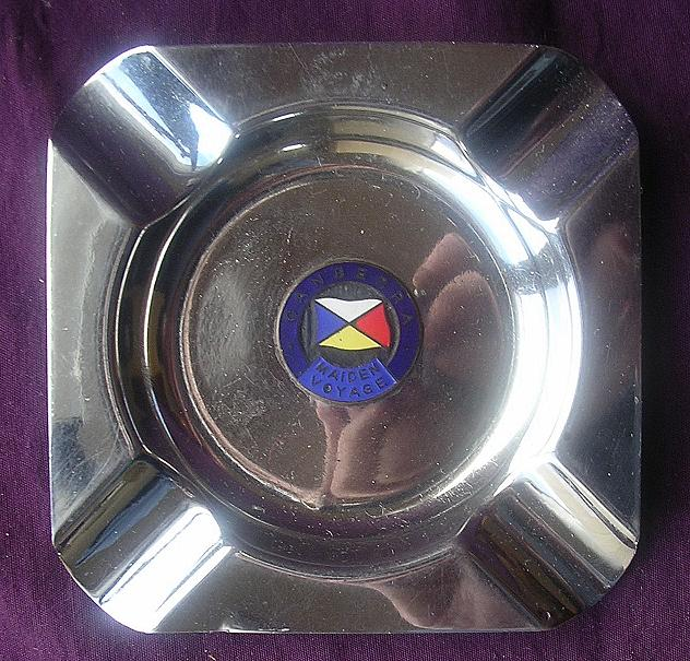 S.S. CANBERRA Maiden Voyage Souvenir Ashtray - P & O Lines